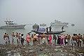 Hindu Devotees Taking Holy Dip In Ganga - Makar Sankranti Observance - Baje Kadamtala Ghat - Kolkata 2018-01-14 6517.JPG