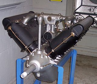 V-8 piston aircraft engine