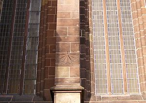 Homberg (Efze) - The tide dial at St Mary's