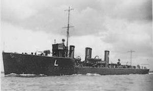 Battle off Noordhinder Bank - HMS Leonidas, one of the British destroyers that fought off Noordhinder Bank