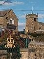 Holmesfield - Church, Pub-Restaurant and Coronation Garden - geograph.org.uk - 1756617.jpg