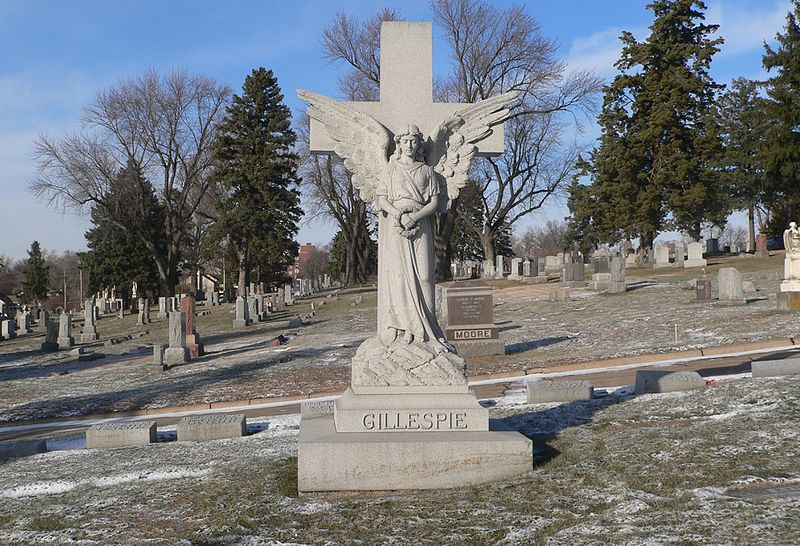File:Holy Sepulchre Cemetery, Omaha, Gillespie monument.jpg