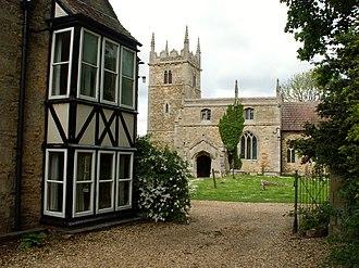 Honington, Lincolnshire - Image: Honington Church of St Wilfrid and vicarage, Lincolnshire, England