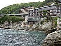 Hotels and cliff coast in Dogashima (2006).jpg