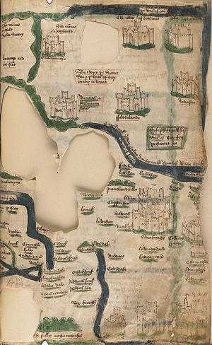 John Hardyng - Manuscript map of Scotland by John Hardyng, 15th century