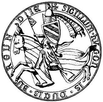 Hugh V, Duke of Burgundy - Seal of Hugh V of Burgundy