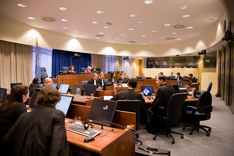 File:ICTY - Court room 1 in session.jpg