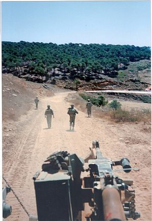 South Lebanon conflict (1985–2000) - IDF military patrol near Ayshiyeh Lebanon (1993)