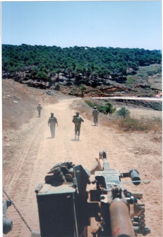IDF military patrol near ayshiyeh Lebanon