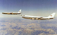 IIAF Boeing 707 refuels IIAF Boeing 747