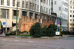 Current remains of San Giovanni in Conca visible from surface.