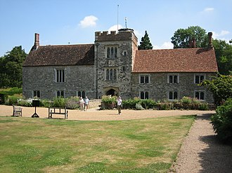 Lord of the manor - Ightham Mote, a 14th century moated manor house near Sevenoaks, Kent, England