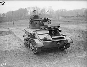 Light Tank Mk VI - Image: IWM ARMY TRAINING 6 6 light tank Mk VIA c 1937
