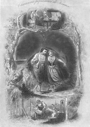 Il pleut, il pleut, bergère - Il pleut, il pleut, bergère   Illustration published in 1866 in national and popular songs of France by Théophile Marion Dumersan.