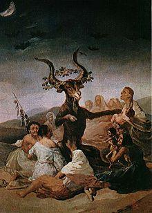 Il grande caprone, raffigurazione del sabba ad opera di Francisco Goya, 1795
