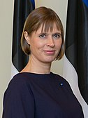 Portrait of president Kersti Kaljulaid