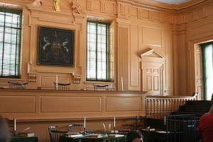 Public court room in Independence Hall