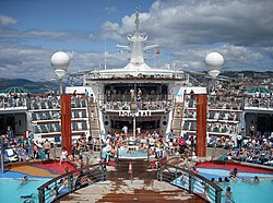 Independence of the Seas pool bar at Vigo, Spain.jpg