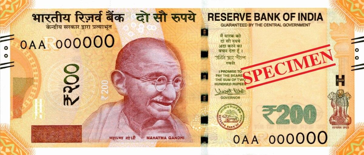 Indian 200 Rupee Note Wikipedia