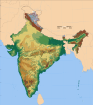 India physical map.svg