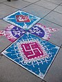 Indian welcome floor paintings signs, signifying auspicious entry.jpg