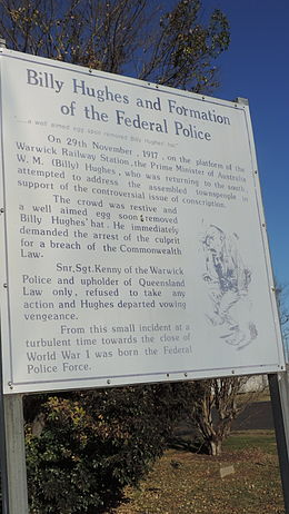 Information board about the incident, 2015