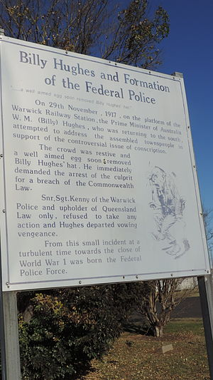 Egg Throwing Incident - Image: Information board about the Warwick Egg Throwing Incident, 2015