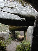 Inside the remains of the burial chamber, Mane Braz, Brittany