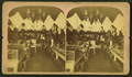 Interior view of W. L. Kidd's store in Laramie, showing wares in cases and hanging overhead, from Robert N. Dennis collection of stereoscopic views.png