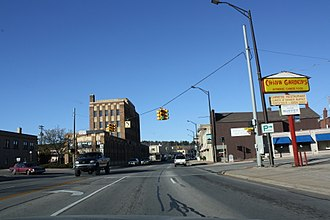 U.S. Route 2 in Michigan - Image: Iron Mountain Michigan Downtown US2US141