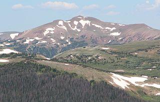 Iron Mountain (Never Summer Mountains) peak in the Never Summer Mountains, Colorado, USA