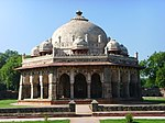 The tomb of Isa Khan Niyazi with its surrounding enclosure walls and turrest garden gateways and mosque (Kh. No. 281 ) bounded on the east by Arab Sarai Kh. No.236 on the west by Kh. No. 283 graveyard of Piare Lal and K.No. 283 of Bddon on the north by Kh. No. 236 of Pandit Brij Vallabh and on the south by Arab Sarai Kh. No. 238.