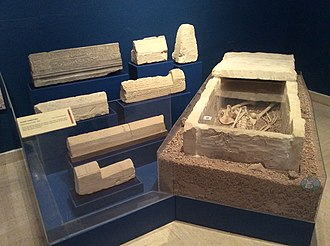 Melite (ancient city) - Sarcophagus and limestone tombstones from a Muslim cemetery established in the 11th century on the ruins of the Domvs Romana