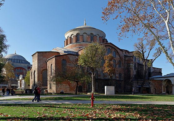 Hagia Irene is a Greek Eastern Orthodox Church located in the outer courtyard of Topkapı Palace in Istanbul. It is one of the few churches in Istanbul that has not been converted into a mosque