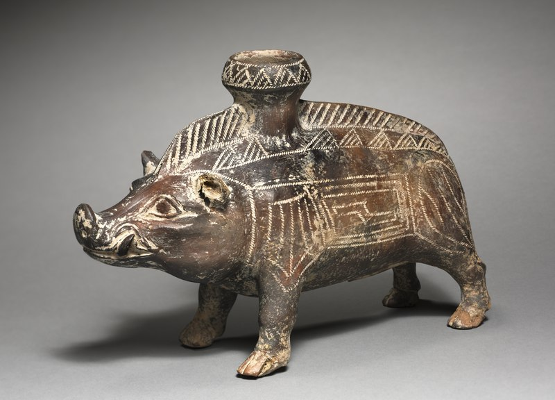 Italy, Villanova, Etruscan, 7th-6th Century BC - Vessel in the Shape of a Wild Boar - 1977.42 - Cleveland Museum of Art