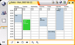 Maemo - OS2006 showing Pimlico Dates