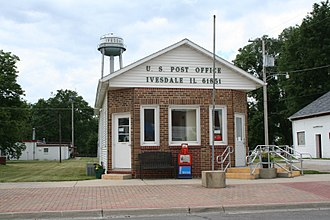 Ivesdale, Illinois - Post Office and Water Tower