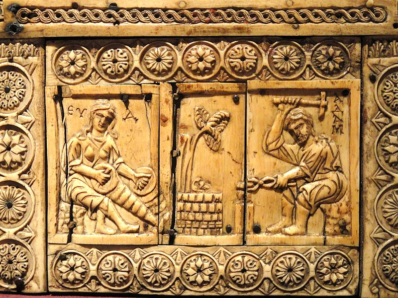 File:Ivory Box with Scenes of Adam and Eve, 1000-1100s AD, Byzantine, Constantinople, ivory, wood - Cleveland Museum of Art - DSC08387.JPG