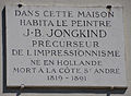 J-B Jongkind plaque - 127 Boulevard du Montparnasse, Paris 6.jpg