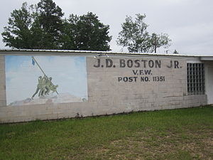 Montgomery, Louisiana - The VFW post is named for James D. Boston, Jr. (1916-1986), a World War II prisoner of war and later a history teacher at Montgomery High School.