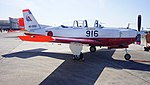 JASDF T-7(46-5916) right front view at Komaki Air Base February 23, 2014 01.jpg