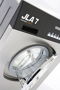 Photograph of a current JLA product, the JLA7 Washing Machine