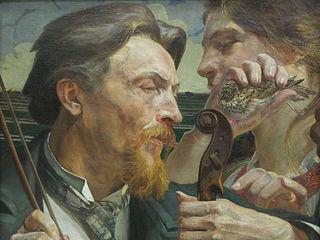 A Lark. Portrait of the Painter Antoni Zembaczyński