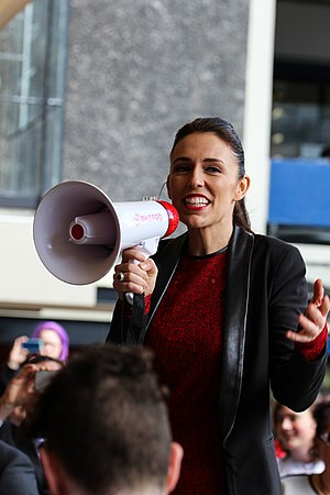 New Zealand general election, 2017 - Ardern campaigning at the University of Auckland, 1 September 2017