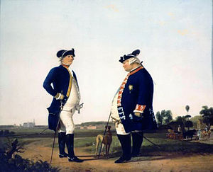 Duke Louis Ernest of Brunswick-Lüneburg - Ludwig, right, with his Scottish-born successor Robert Douglas, painted in 1786 by Jacobus Vrijmoet