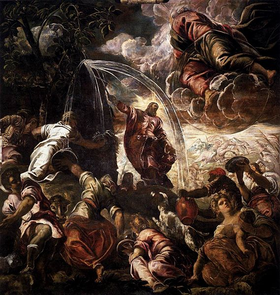 File:Jacopo Tintoretto - Moses Drawing Water from the Rock - WGA22535.jpg