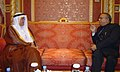 Jaipal Reddy at the bilateral meeting with the Minister of Petroleum Resources, Saudi Arabia, Mr. Ali I. Al Naimi.jpg