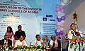 Jairam Ramesh addressing at the Launch of Vocational Skill Training in Schools in Assam, at Guwahati. The Chief Minister of Assam.jpg