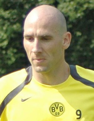 Jan Koller - Jan Koller playing for Borussia Dortmund