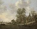Jan van Goyen - Gezicht op een dorp aan een rivier - SK-A-120 - Rijksmuseum.jpg